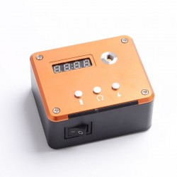 Authentic VGME 521 Tab V3 Battery Capacity Tester / Ohm Meter Reader / Coil Rebuilding Deck - Orange, 0.01~3ohm, 1 x 18650