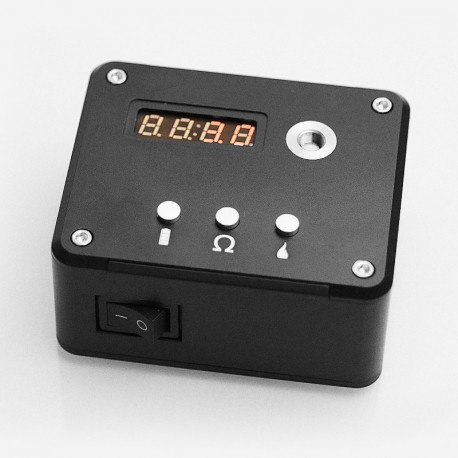 Authentic VGME 521 Tab V3 Battery Capacity Tester / Ohm Meter Reader / Coil Rebuilding Deck - Black, 0.01~3ohm, 1 x 18650