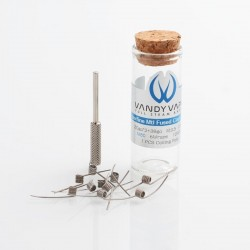 [Ships from Germany] Authentic Vandy Vape Superfine Ni80 MTL Fused Clapton Heating Wire Coil - 30GA x 2 + 38GA, 0.7ohm (10 PCS)