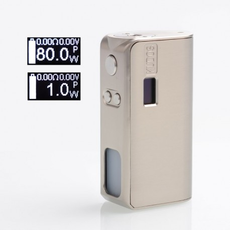 [Ships from Germany] Authentic Hippovape Kudos 80W VW Variable Wattage Squonk Box Mod - SS, Zinc Alloy, 7ml, 3~80W, 1 x 18650