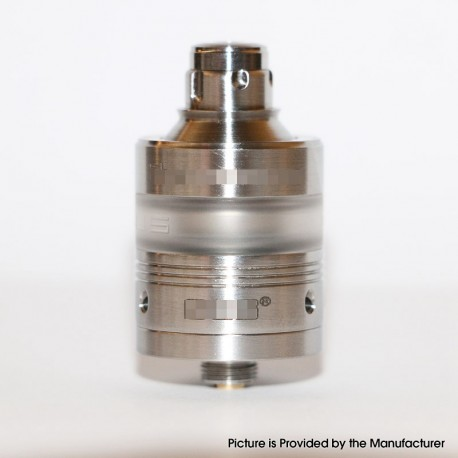 Ruby Style RTA Rebuildable Tank Atomizer - Silver, 316 Stainless Steel, 2ml, 22mm Diameter