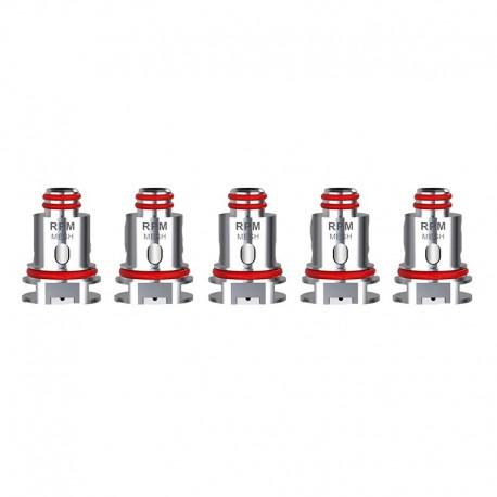 Authentic SMOKTech Replacement MTL Mesh Coil Head for SMOK RPM40 Pod Kit / Fetch Mini - Silver, 0.3ohm (10~15W) (5 PCS)