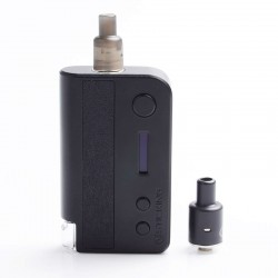 Authentic Vsticking VKsma 1400mAh YiHi Chip DIY Mode TC Mod Kit w/ SMI RADA Dripping Atomizer - Leather Black, 3ml, 10~35J