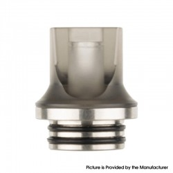 Authentic Reewape AS281T 810 Replacement Drip Tip for SMOK TFV8 / TFV12 Tank / Kennedy / Battle/Reload RDA - Grey, Resin, 20mm
