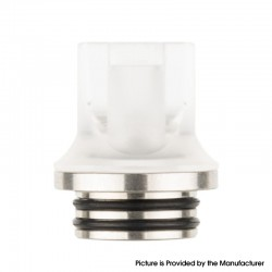 Authentic Reewape AS281T 810 Replacement Drip Tip for SMOK TFV8 / TFV12 Tank / Kennedy / Battle/Reload RDA - White, Resin, 20mm