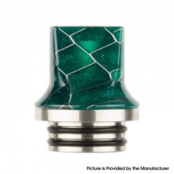 Authentic Reewape AS281TS 810 Replacement Drip Tip for SMOK TFV8 / TFV12 Tank / Kennedy / Battle/Reload RDA - Green, Resin, 20mm