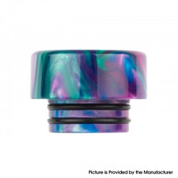Authentic Reewape AS265 810 Replacement Drip Tip for SMOK TFV8 /TFV12 Tank/Kennedy/Battle/Reload RDA - Green Purple, Resin, 12mm