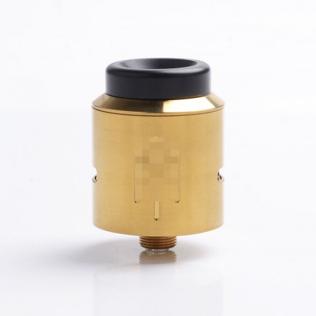 Terk V2 Style RDA Rebuildable Dripping Atomizer + 1 Spare 25mm Diameter Top Cap w/ BF Pin - Gold, Stainless Steel, 24mm Diameter