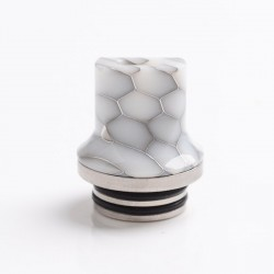 Authentic Reewape AS281TS 810 Replacement Drip Tip for SMOK TFV8 / TFV12 Tank / Kennedy /Battle/Reload RDA - White, Resin, 20mm