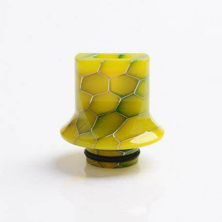 Authentic Reewape AS281S 510 Replacement Drip Tip for RDA / RTA / RDTA / Sub-Ohm Tank Atomizer - Yellow, Resin, 18mm