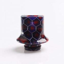 Authentic Reewape AS281S 510 Replacement Drip Tip for RDA / RTA / RDTA / Sub-Ohm Tank Atomizer - Purple Red, Resin, 18mm