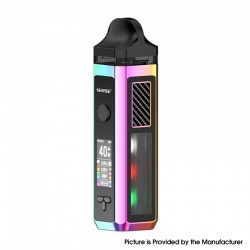 Authentic Sense Herakles 40W 1500mAh VW Pod Mod Hybrid AIO System Vape Starter Kit - Rainbow, Zinc Alloy + PC, 6ml, 5~40W