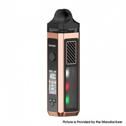 Authentic Sense Herakles 40W 1500mAh VW Pod Mod Hybrid AIO System Vape Starter Kit - Rose Gold, Zinc Alloy + PC, 6ml, 5~40W