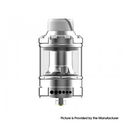 Authentic Dovpo The Ohmage Sub Ohm Tank Vape Atomizer w/ 4 Spare Coils - Silver, SS + Quartz Glass, 2ml / 5.5ml, 26.5mm Diameter