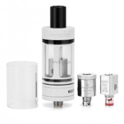 Authentic Kanger Subtank Mini Clearomizer - White, Stainless Steel + Pyrex Glass, 4.5mL, 0.5 ohm