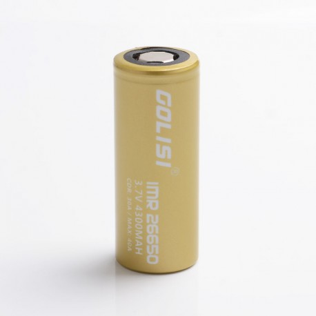 [Ships from Battery Warehouse] Authentic Golisi S43 IMR 4300mAh 40A 26650 High Drain Rechargeable Lithium Battery for Mod -(1PC)