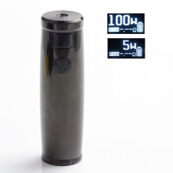 Authentic Uwell Nunchaku 2 100W TC VW Variable Wattage Vape Mod - Black, 5~100W, 1 x 18650 / 20700 / 21700