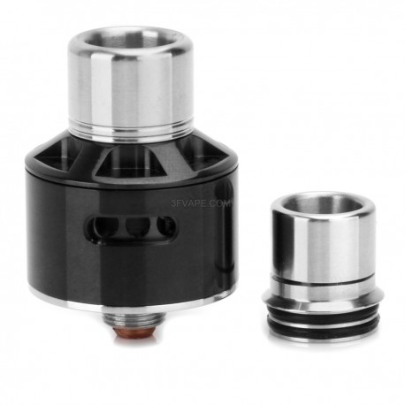 Stumpy Style RDA Rebuildable Dripping Atomizer - Black, Stainless Steel, 22mm Diameter