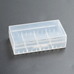 Clear Battery Protected Case for 18650 / 18500 / 18350 / 16340 / CR123A Li-ion Batteries - Transparent, PC