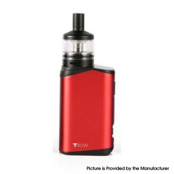 Authentic Teslacigs T40W 2000mAh VW Vape Box Mod w/ Arktos Atomizer Kit - Red, Aluminum Alloy + Plastic, 1.8ml, 5~40W