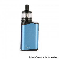 Authentic Teslacigs T40W 2000mAh VW Vape Box Mod w/ Arktos Atomizer Kit - Blue, Aluminum Alloy + Plastic, 1.8ml, 5~40W