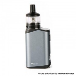 Authentic Teslacigs T40W 2000mAh VW Vape Box Mod w/ Arktos Atomizer Kit - Silver, Aluminum Alloy + Plastic, 1.8ml, 5~40W
