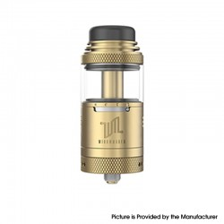 Authentic Vandy Vape Widowmaker RTA Rebuildable Vape Tank Atomizer - Gold, Stainless Steel + Glass, 6ml, 25mm Diameter