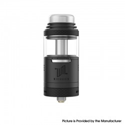 Authentic Vandy Vape Widowmaker RTA Rebuildable Vape Tank Atomizer - Black, Stainless Steel + Glass, 6ml, 25mm Diameter