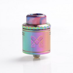Authentic Vandy Vape Mesh V2 RDA Rebuildable Dripping Atomizer - Rainbow, Stainless Steel, 0.12ohm / 0.15ohm, 25mm Diameter