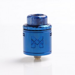 Authentic Vandy Vape Mesh V2 RDA Rebuildable Dripping Atomizer - Shiny Blue, Stainless Steel, 0.12ohm / 0.15ohm, 25mm Diameter