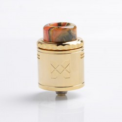 Authentic Vandy Vape Mesh V2 RDA Rebuildable Dripping Atomizer - Gold, Stainless Steel, 0.12ohm / 0.15ohm, 25mm Diameter