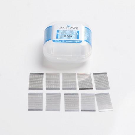Authentic Vandy Vape Mesh V2 RDA Replacement A1 M Coil Mesh Sheet - Silver, 0.15ohm (50~65W) (10 PCS)