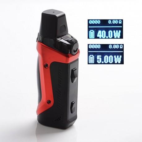 Authentic GeekVape Aegis Boost 40W 1500mAh VW Box Mod Pod System Starter Kit - Devil Red, Zinc Alloy, 3.7ml, 0.6ohm, 5~40W