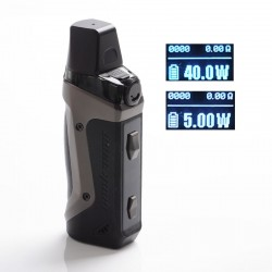 Authentic GeekVape Aegis Boost 40W 1500mAh VW Box Mod Pod System Starter Kit - Gun Metal, Zinc Alloy, 3.7ml, 0.6ohm, 5~40W