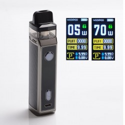 Authentic Voopoo VINCI X VW Box Mod Pod System Starter Kit - Carbon Fiber, Zinc Alloy + PCTG, 0.3ohm / 0.6ohm, 5~70W, 1 x 18650