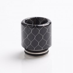 Authentic Reewape AS272 Changeable 810-510 Drip Tip w/ Anti Spit SS Mesh Sheet for RDA / SMOK TFV8 - Black, Resin, 18mm