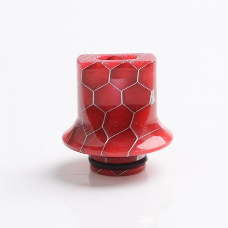 Authentic Reewape AS281S 510 Replacement Drip Tip for RDA / RTA / RDTA / Sub-Ohm Tank Atomizer - Red, Resin, 18mm