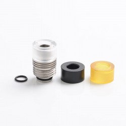KS Replacement Stainless Steel Base Deck + 3 Mouthpiece Drip Tip Set for SXK BB Billet Mod Box - Silver + Brown + White + Black