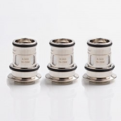 Authentic HorizonTech Replacement Sector Mesh Coil Head for Falcon II Tank - Silver, 0.14ohm (3 PCS)