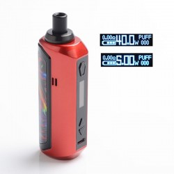 Authentic Artery Nugget AIO 40W 1500mAh VW Box Mod Pod System Starter Kit - Red, Zinc Alloy + Plastic, 2ml, 5~40W