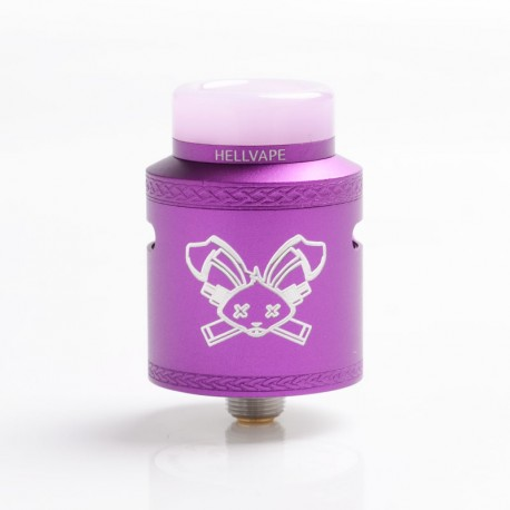 Authentic Hellvape Dead Rabbit V2 RDA Rebuildable Dripping Atomzier w/ BF Pin - Purple, Aluminum, 24mm Diameter