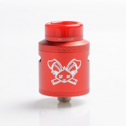 Authentic Hellvape Dead Rabbit V2 RDA Rebuildable Dripping Atomzier w/ BF Pin - Red, Aluminum, 24mm Diameter