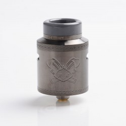 Authentic Hellvape Dead Rabbit V2 RDA Rebuildable Dripping Atomizer w/ BF Pin - Gun Metal, Stainless Steel, 24mm Diameter
