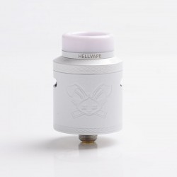 Authentic Hellvape Dead Rabbit V2 RDA Rebuildable Dripping Atomizer w/ BF Pin - White, Stainless Steel, 24mm Diameter
