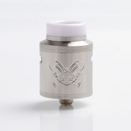 Authentic Hellvape Dead Rabbit V2 RDA Rebuildable Dripping Atomzier w/ BF Pin - Silver, Stainless Steel, 24mm Diameter