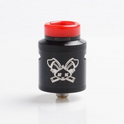 Authentic Hellvape Dead Rabbit V2 RDA Rebuildable Dripping Atomzier w/ BF Pin - Black, Stainless Steel, 24mm Diameter