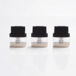 Authentic IJOY Neptune Pod Kit Replacement Pod Cartridge w/ 1.0ohm Coil - Transparent + Black, 1.8ml (3 PCS)