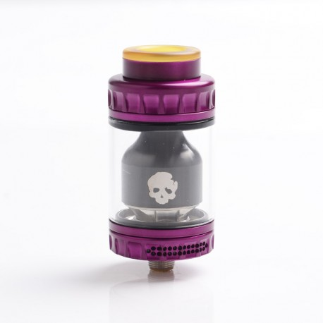 Authentic Dovpo Blotto RTA Rebuildable Tank Vape Atomizer - Purple, Stainless Steel + Glass, 2.0ml / 6.0ml, 26mm Diameter