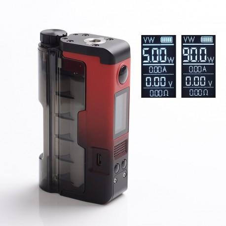 Authentic Dovpo x Brian Topside Lite 90W TC VW Squonk Box Vape Mod - Red, 5~90W, 100~315'C, 1 x 20700 / 21700