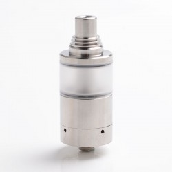 Sine Style MTL RTA Rebuildable Tank Vape Atomizer - Silver, 316 Stainless Steel + Polycarbonate, 4.2ml, 22mm Diameter